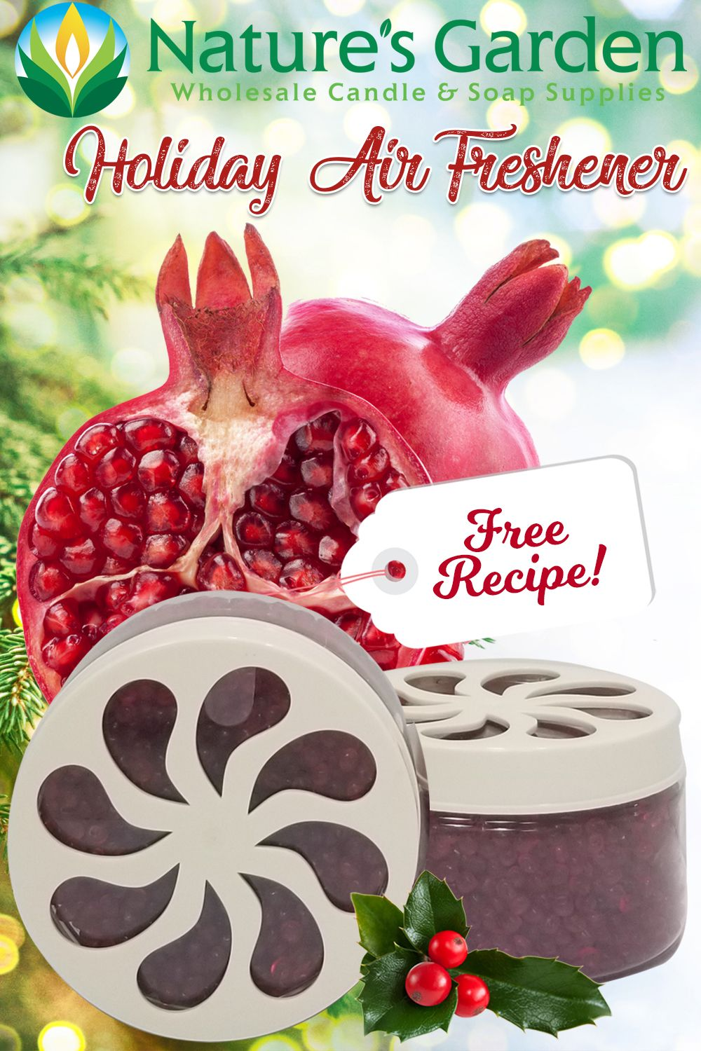 Free Holiday Air Freshener Recipe by Natures Garden. Air