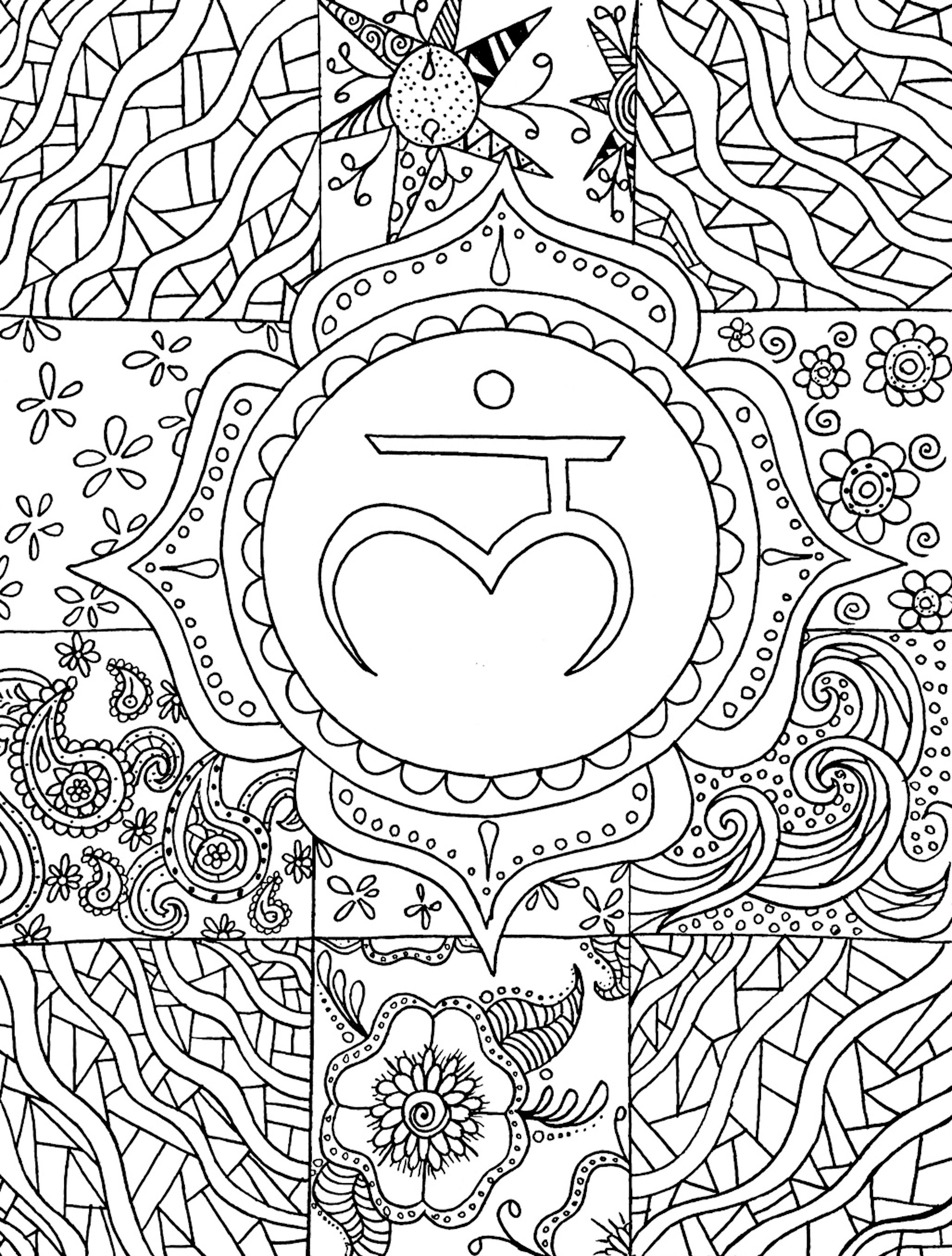 A coloring page preview from Yoga In Color A Yoga Anatomy