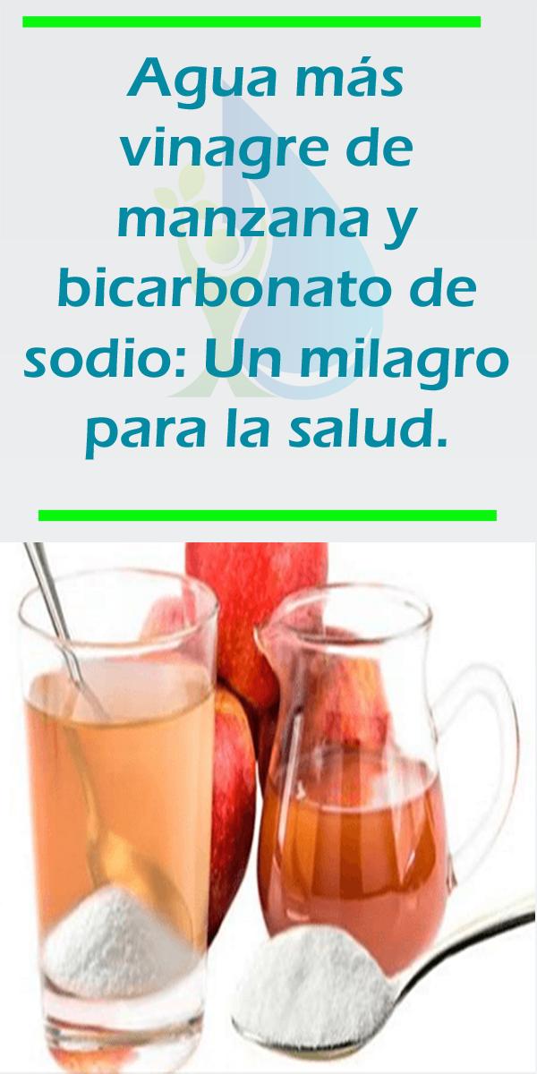 Bicarbonato de de manzana agua con beneficios y tomar vinagre