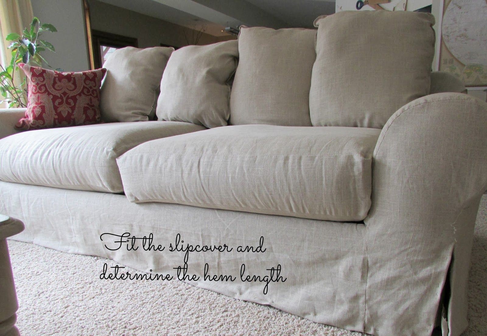 Linen Slipcovered Couch Tutorial Slipcovers Slipcovers For