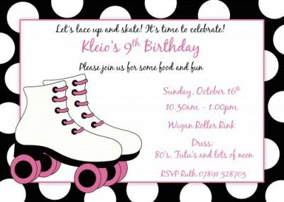 Roller Skating Birthday Invitations Free Printable Beth