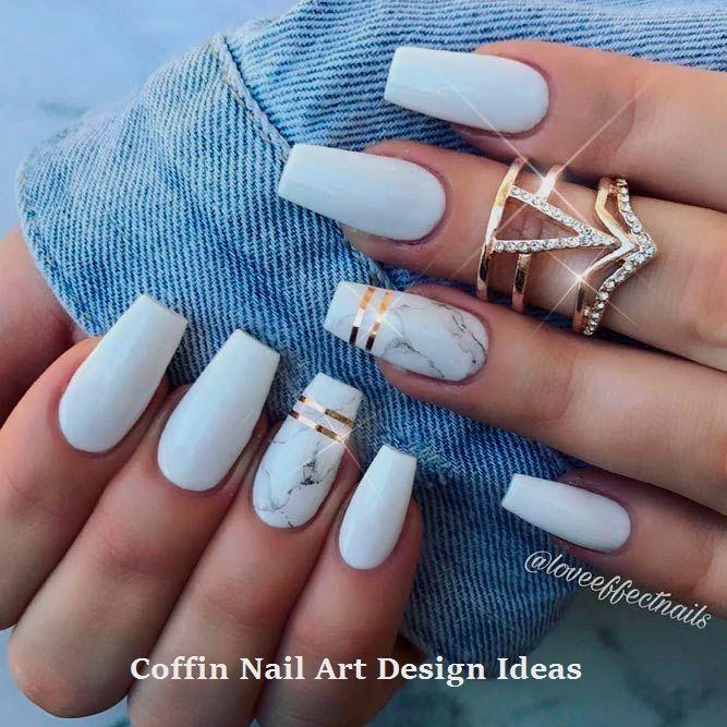 20 Trendy Coffin Nail Art Designs 1 Fall Acrylic Nails White Acrylic Nails Pretty Acrylic Nails