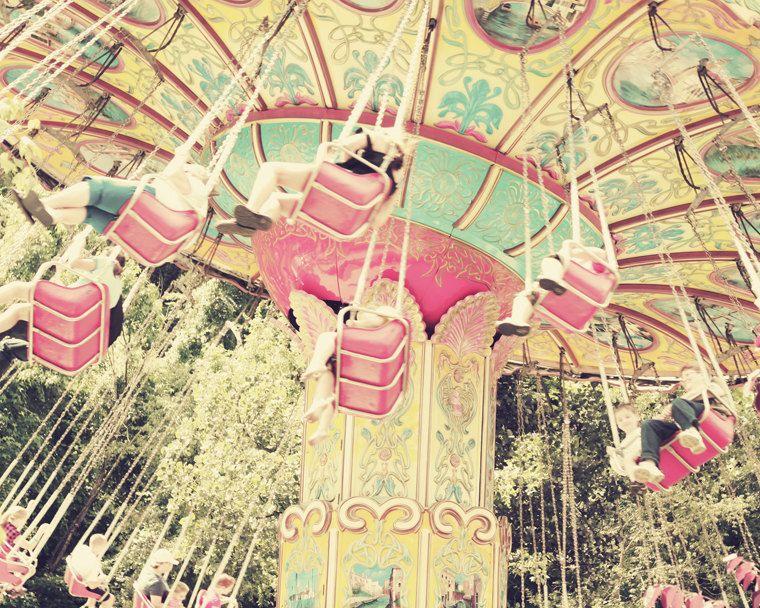 nursery art print, carnival photography, shabby chic, baby, girls ...