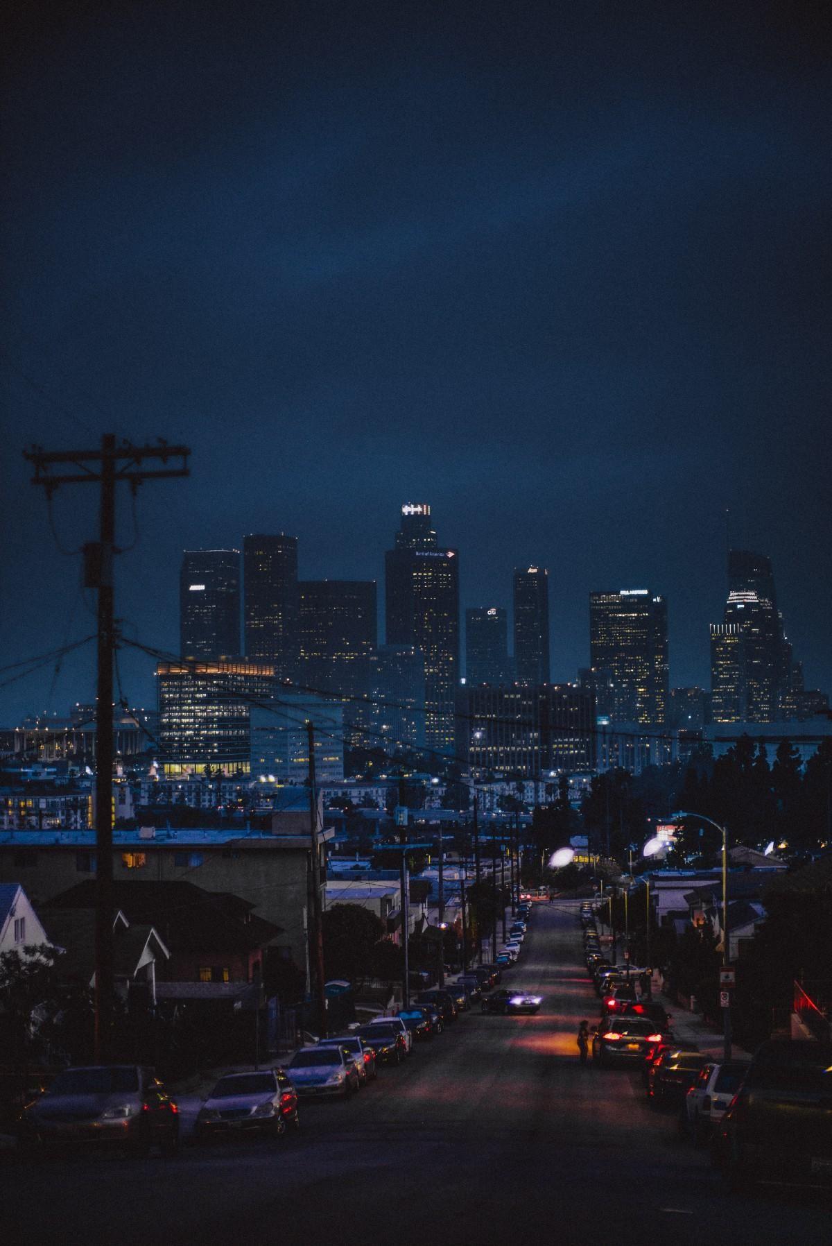 Los Angeles California [1200x1796] Los angeles at night