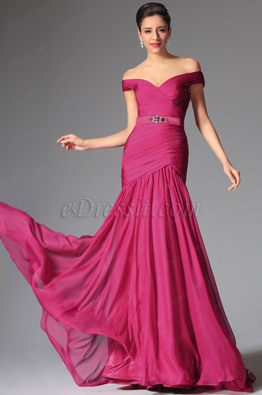 Robe de soiree rose framboise