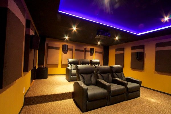 home theater ceiling lighting. underground home theater with 500 pounds of svs subwoofers and custom acoustic treatments ceiling lighting
