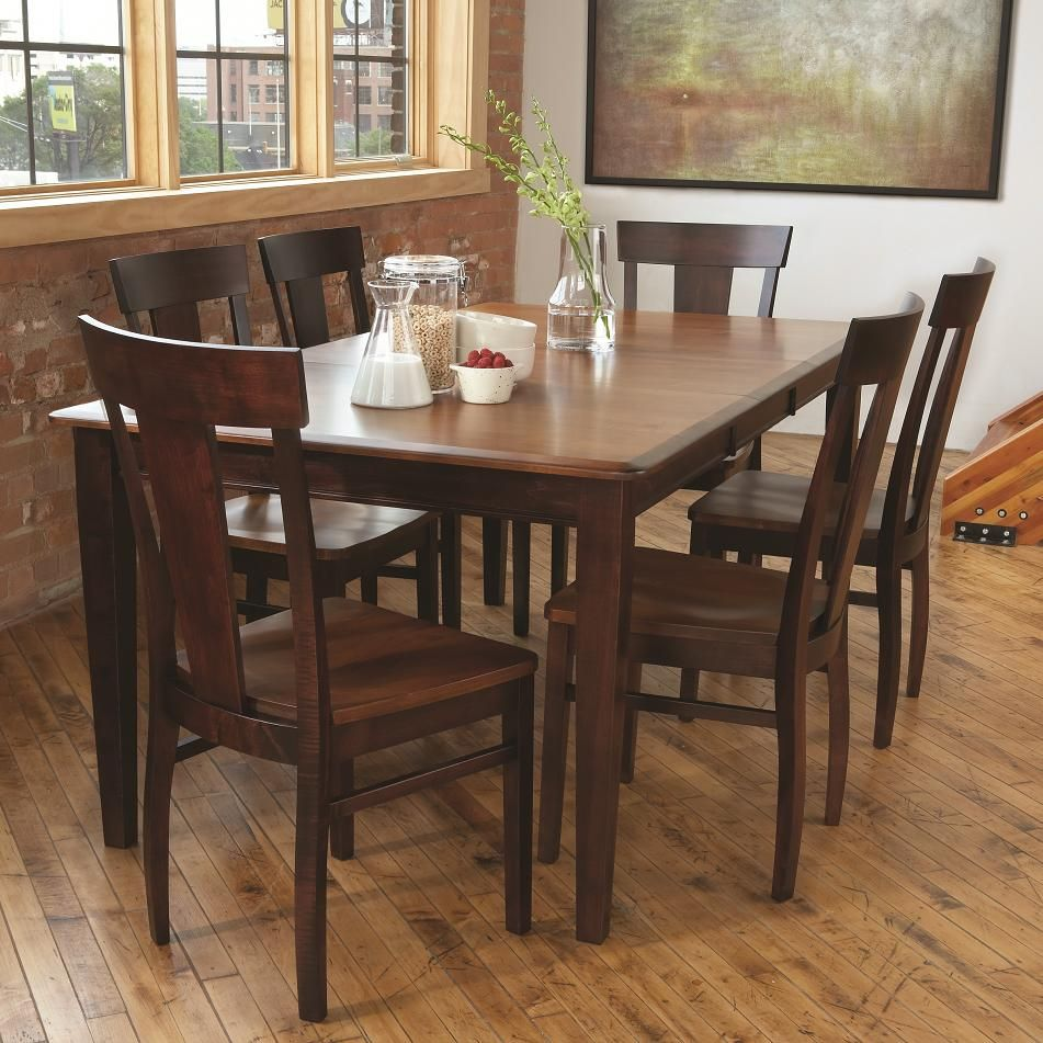 Wood Dining Sets 7 Shatter Dining Set Part Of The Solid Wood Dining Sets .