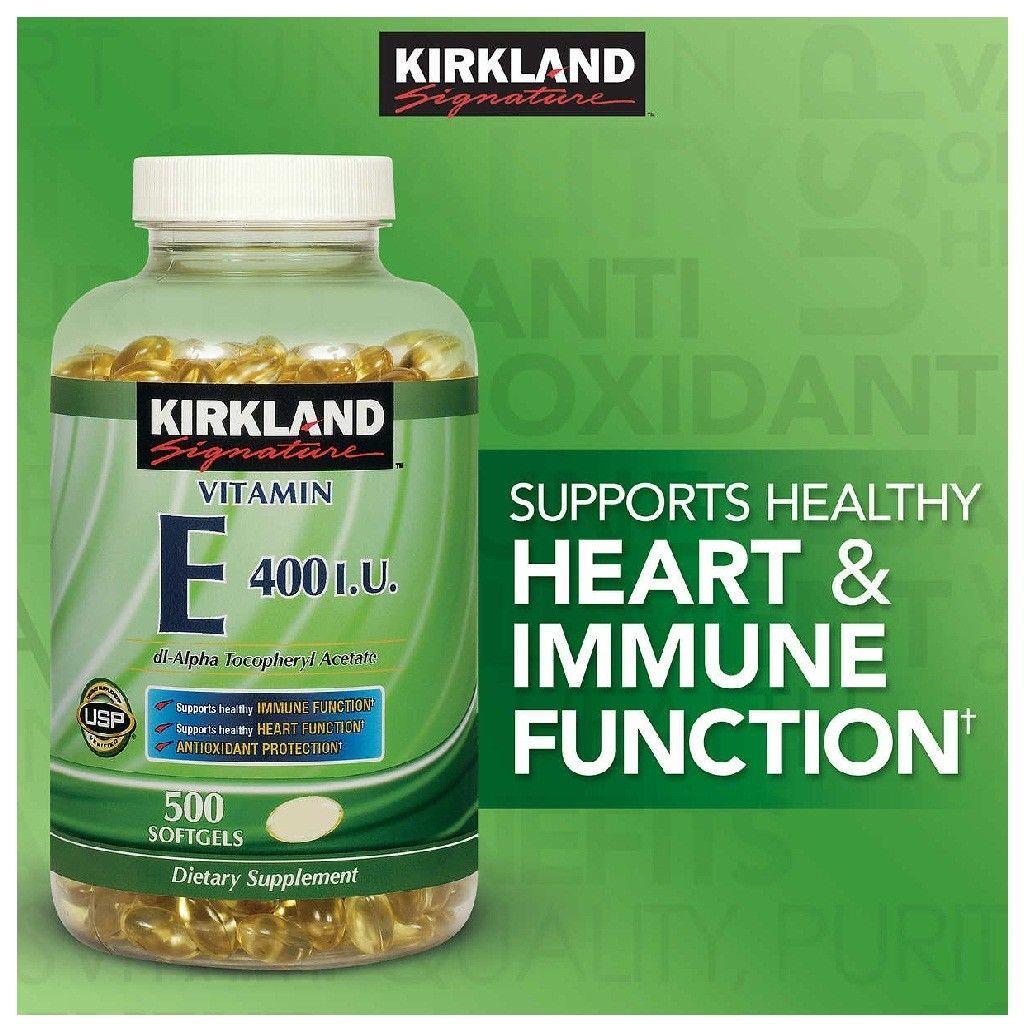 Details about kirkland signature vitamin e 180mg 500