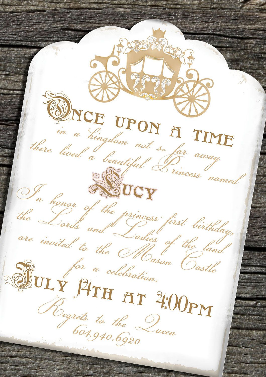 Once Upon a Time Invitation Set of 10 by theblueeggevents on Etsy ...
