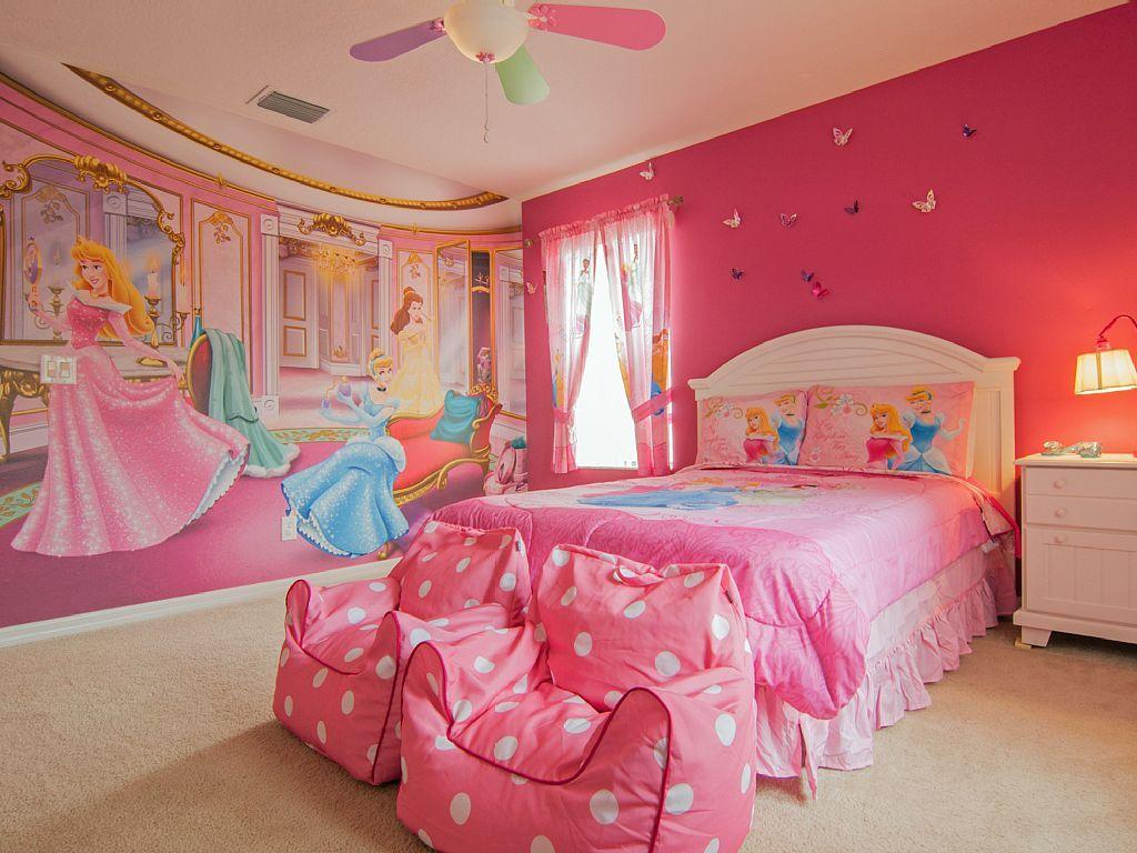 bright pink princess bedroom for kid  girls bedroom