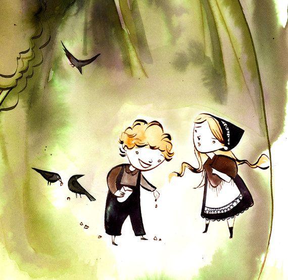 Penelope S Woodland Fairy Tale Nursery: Hansel And Gretel.