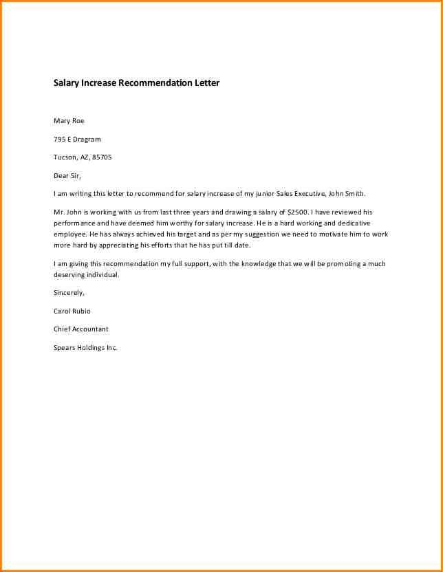 Promotion Recommendation Letter Sample Corrective Action Plan
