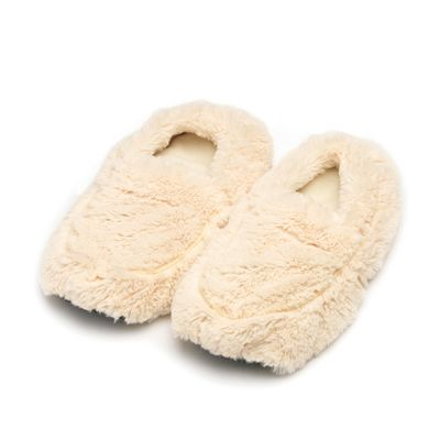 Photo of Warmies® Plush Body Slippers Cream