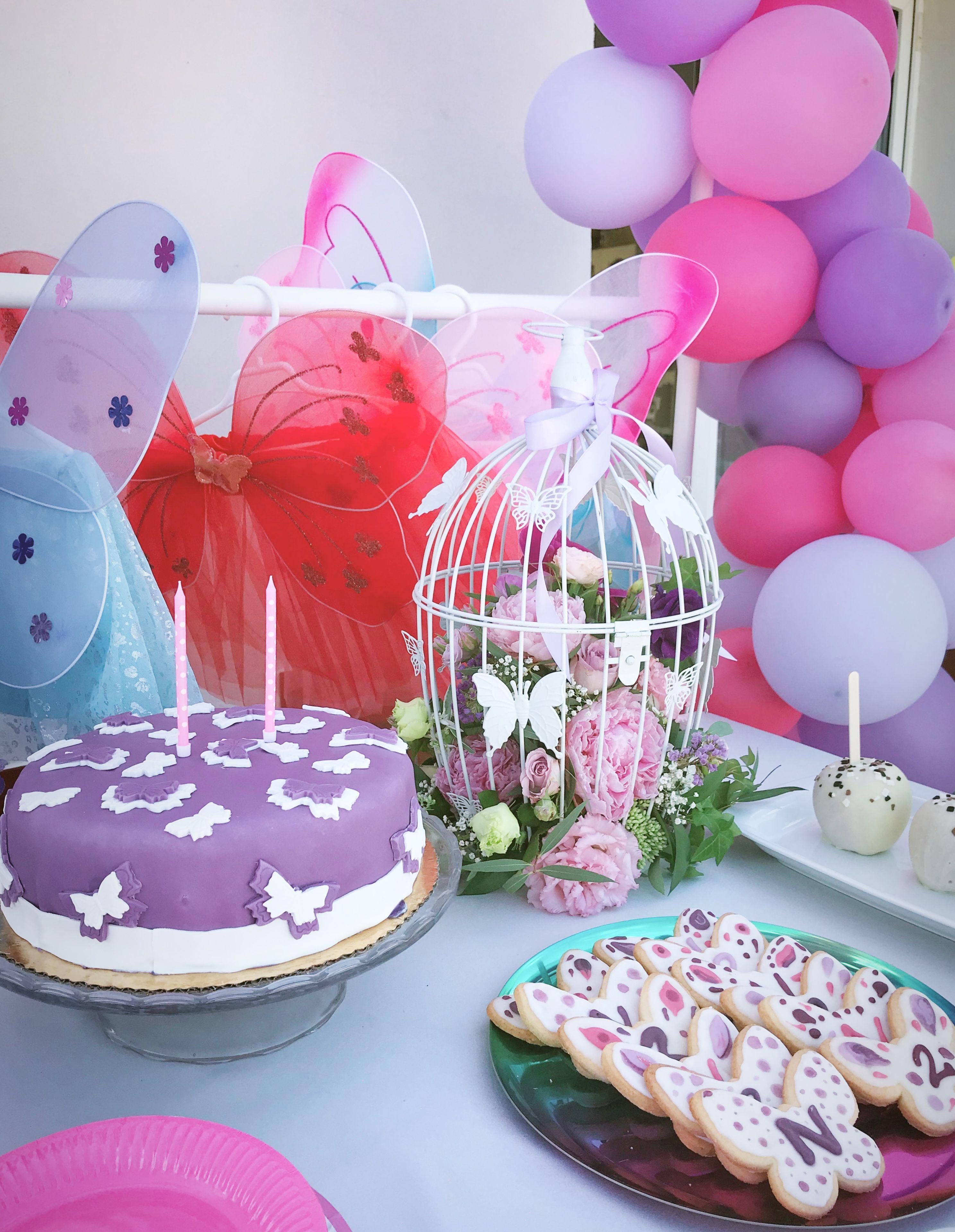 2 Urodziny Z Motywem Motyli Apple Bar Tematyczny Slodki Stol