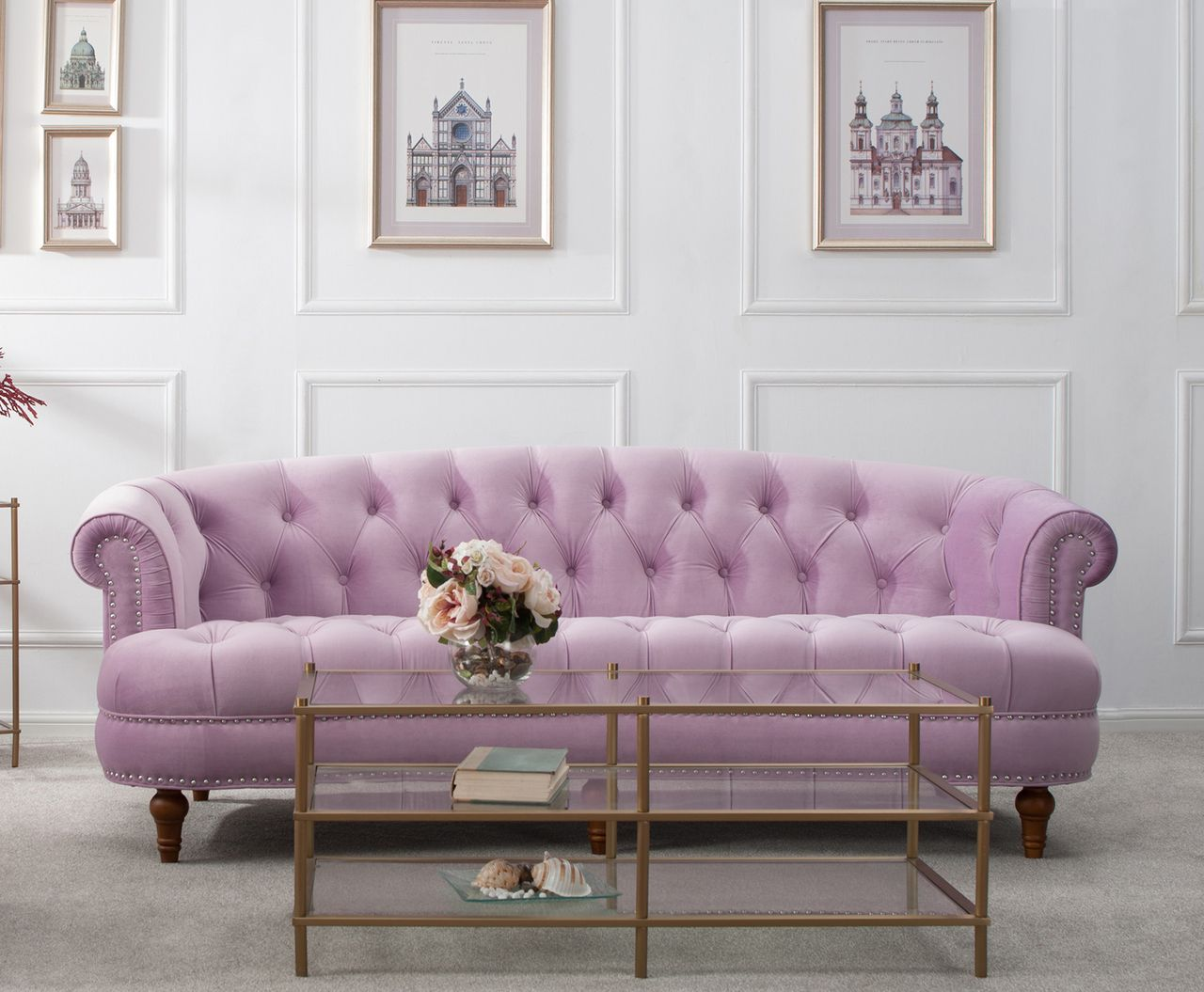 Sofa Outlet Paisley La Rosa Chesterfield Sofa Lavender In 2019 Sunset Sky