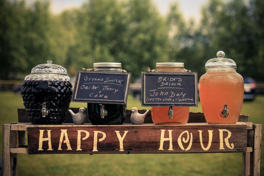 Rustic Purple Backyard Wedding | Wedding catering, Wedding ...