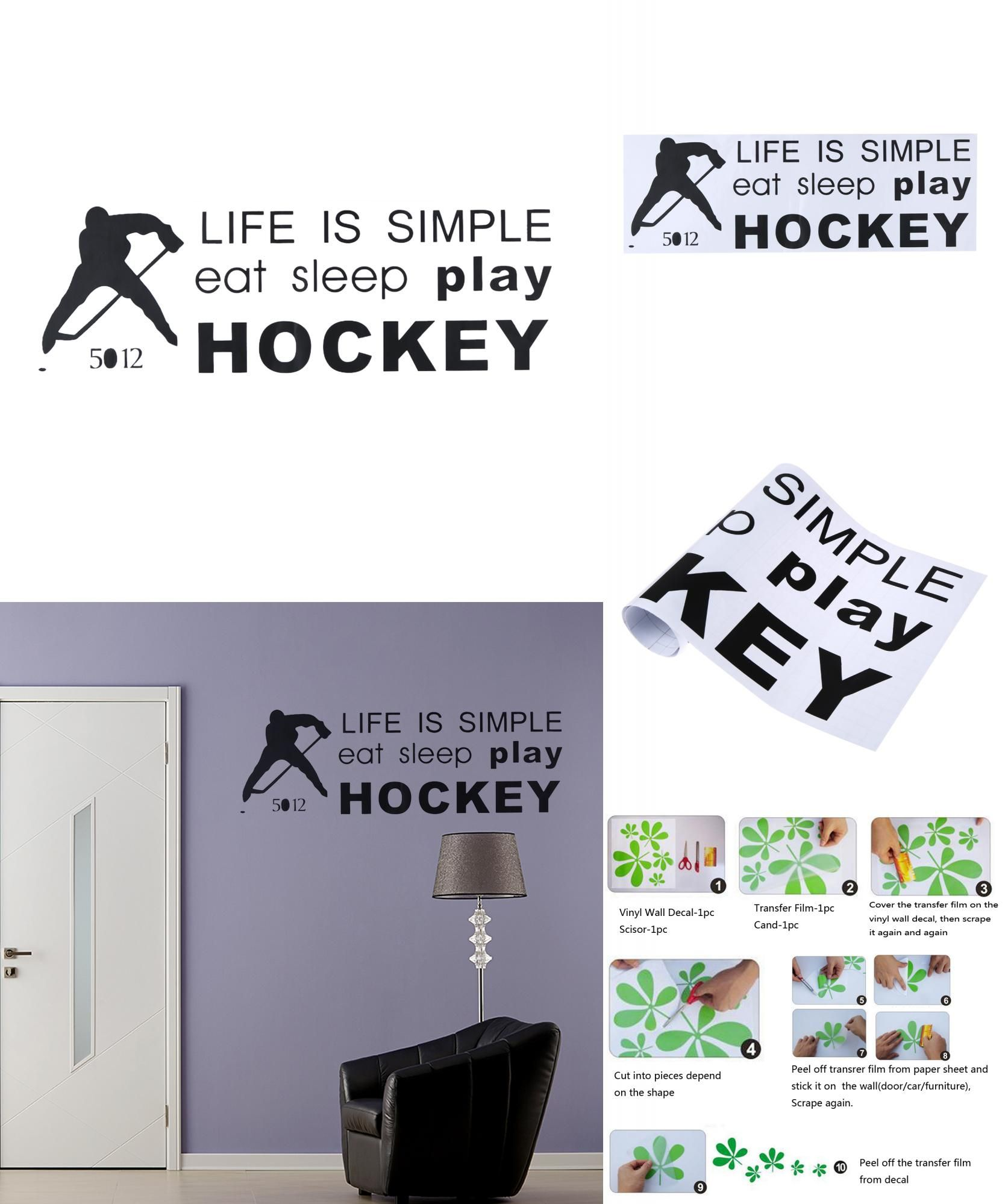 [Visit To Buy] Life Is Simple Eat Sleep Play Hockey