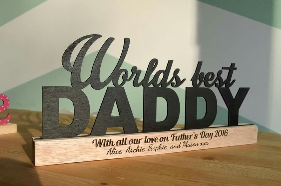 Personalised Father's day gift.  See at www.facebook.com/homehandcrafts