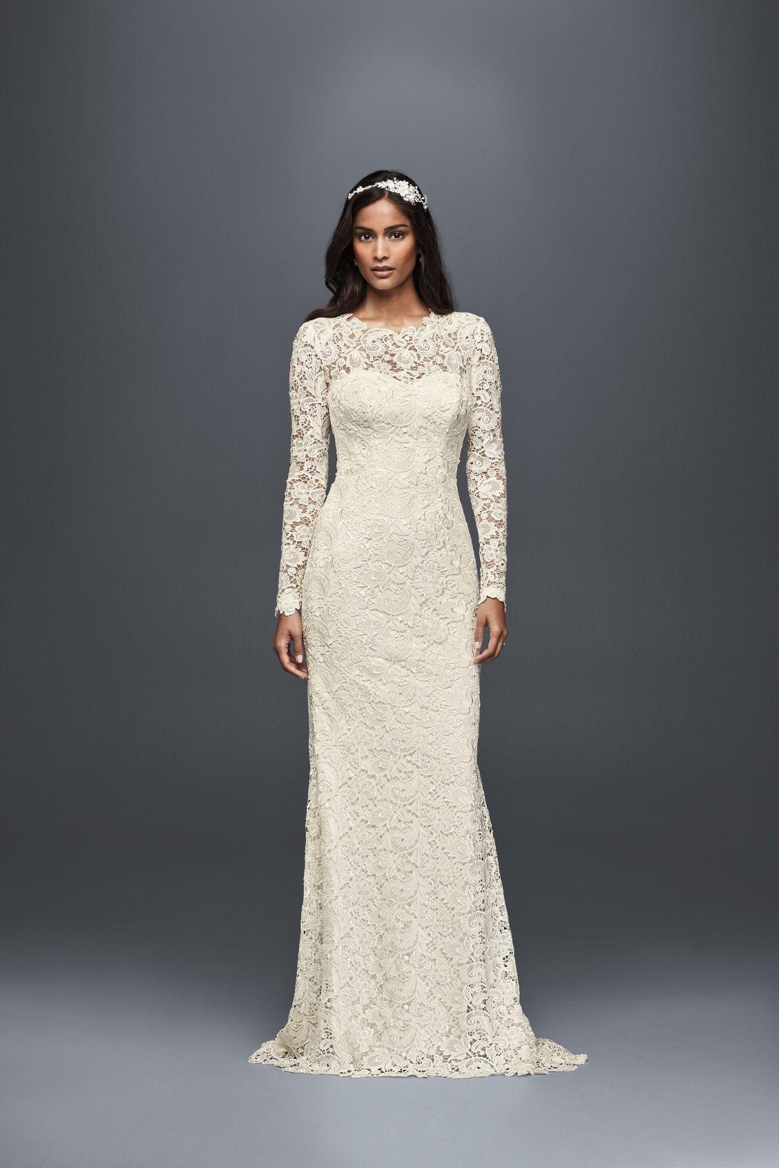Long Sleeve Lace Sheath Wedding Dress David S Bridal Sheath Wedding Dress Lace Long Sleeve Wedding Dress Lace Sheath Wedding Dress