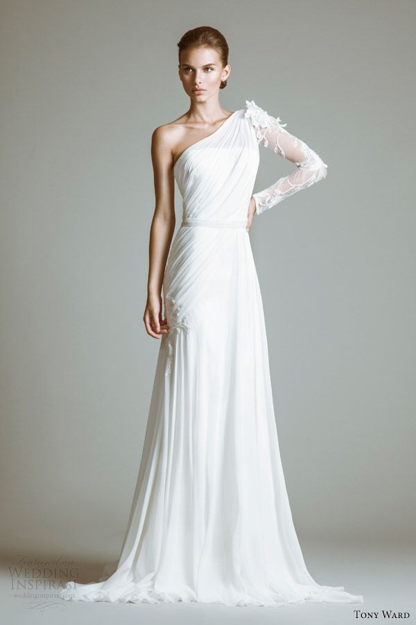 Tony Ward Wedding Dresses Bridal 2017 Katharine One Shoulder Gown
