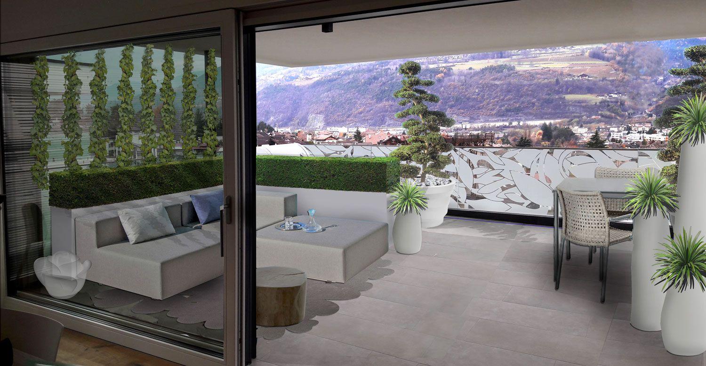 Terrazzo moderno e raffinato. Design by Verde Progetto | PROGETTI di ...