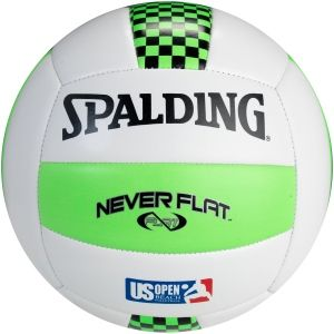 Spalding Never Flat Volleyball 72 101 King Of The Beach Volleyball Neon Green And Black Spalding Green White Volleyball