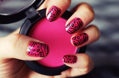 Nail Art Designs Black And Pinkblack Nail Polish Nail Art Nail Art