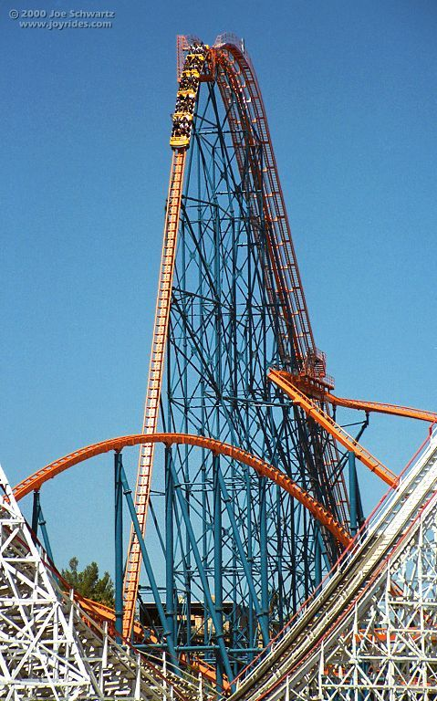 Goliath Six Flags Magic Mountain Valencia California Usa Best Roller Coasters Six Flags Roller Coaster
