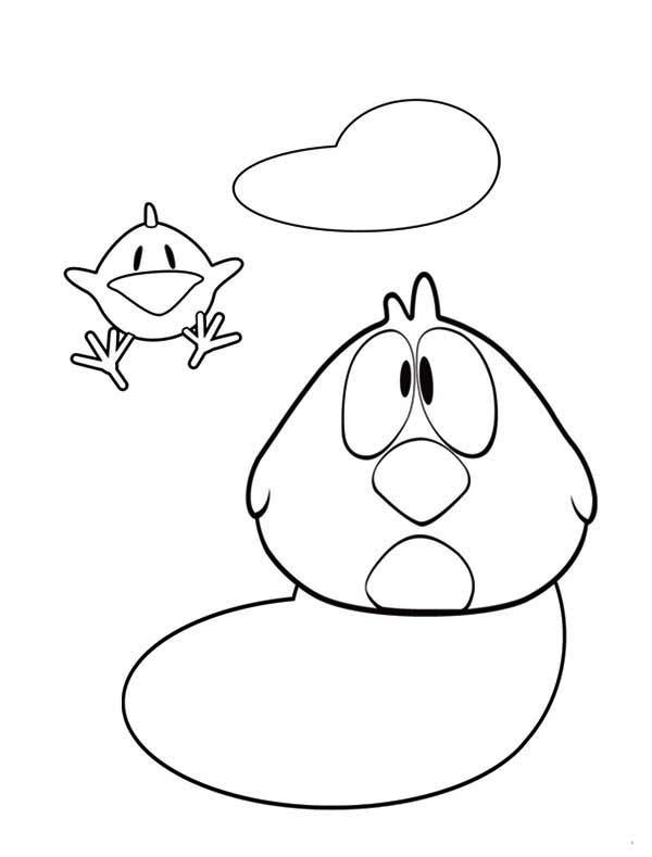 Pocoyo Friend Sleepy Bird Coloring Page Color Luna Bird Coloring Pages Cool Coloring Pages Belle Coloring Pages