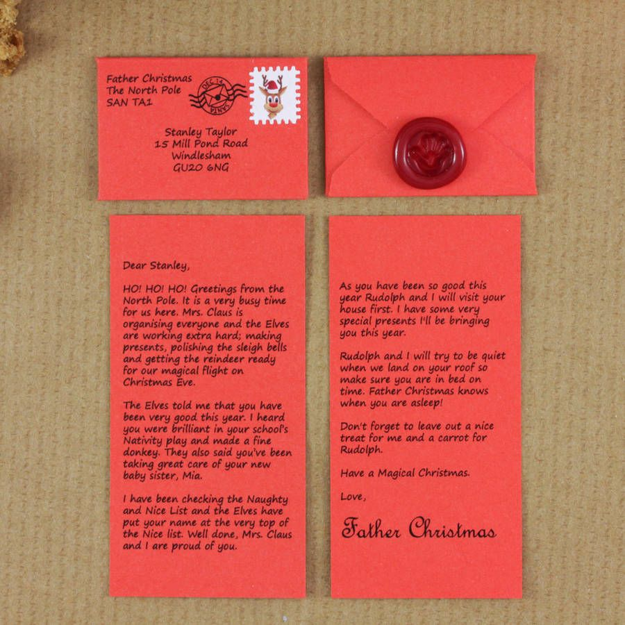 Personalised letter from father christmas father christmas letters mini father christmas letter spiritdancerdesigns Images