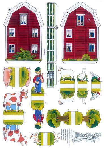 printable houses | Link: Swedish Farm Paper Model by Jünger