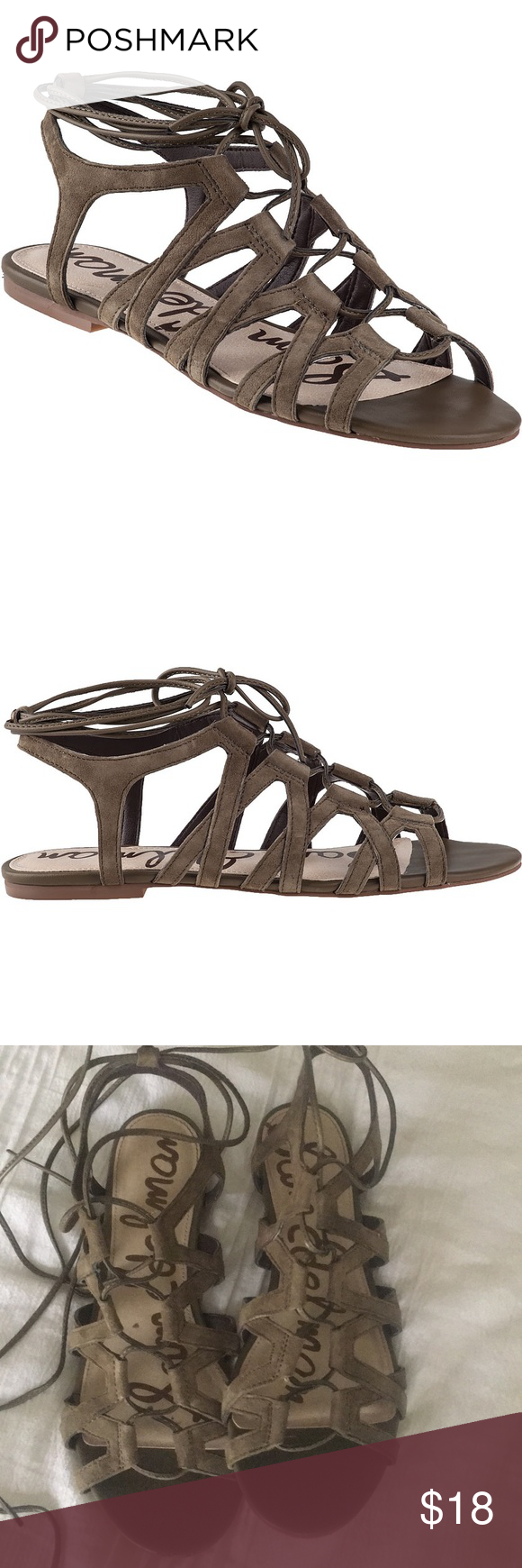 addfe8c89a9f Sam Edelman Boyden Sandal Olive Sz 8 Only worn once Sam Edelman Shoes  Sandals