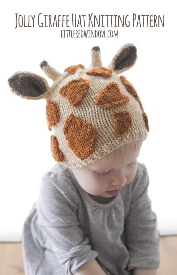 Jolly Giraffe Hat Knitting Pattern | Strick und Stricken