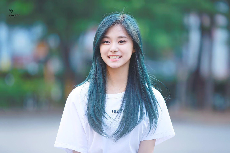 Twice Tzuyu Blue Hair Kpop Hair Iu Hair