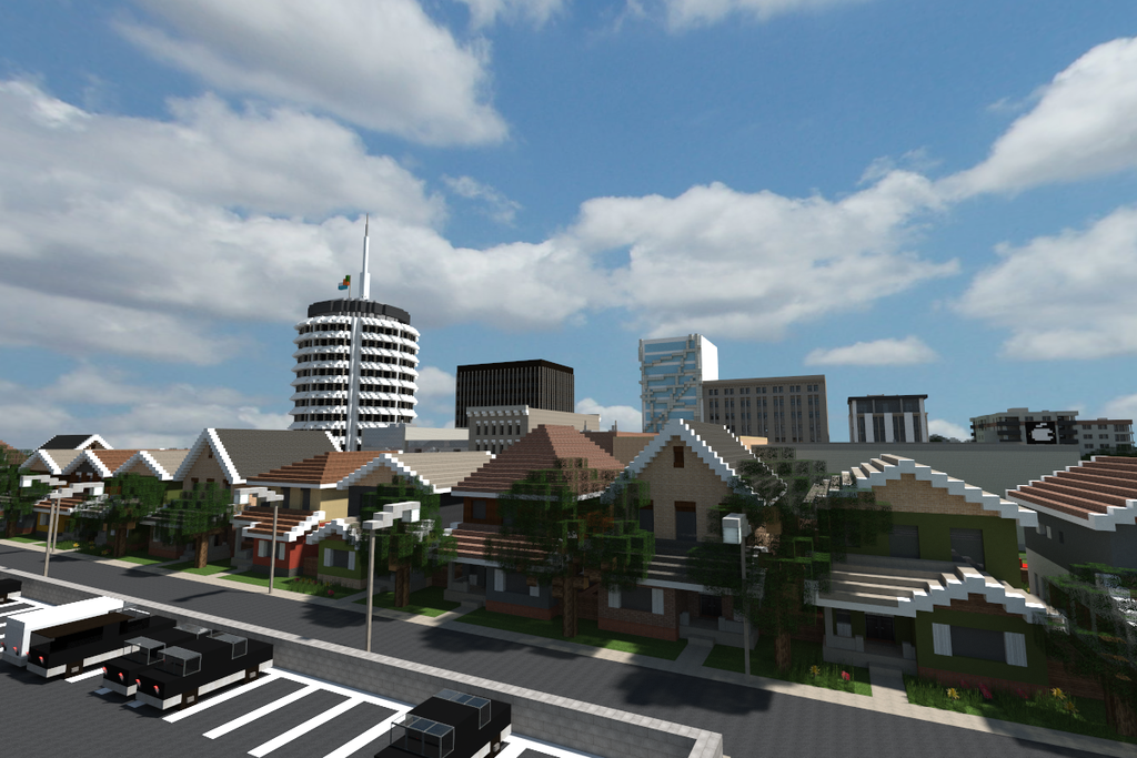 Minecraft Town Houses By On