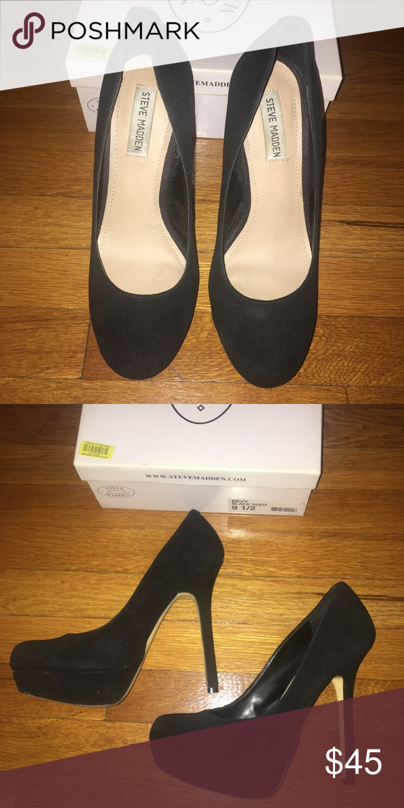 a7fd4e479a Black Steve Madden Classic Bevv Suede Pump Black Steve Madden Classic Bevv  Suede Pump. Leather Upper. Great condition- wore twice. Steve Madden Shoes  Heels
