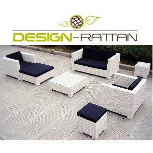 Design Rattan®   MIAMI   Polyrattan Gartenmöbel Lounge   7 Cm   WEISS