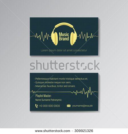 Business Card Template For Music Dj Music Store Clubs Etc Business Cards Vector Templates Business Card Template Logo Design Love