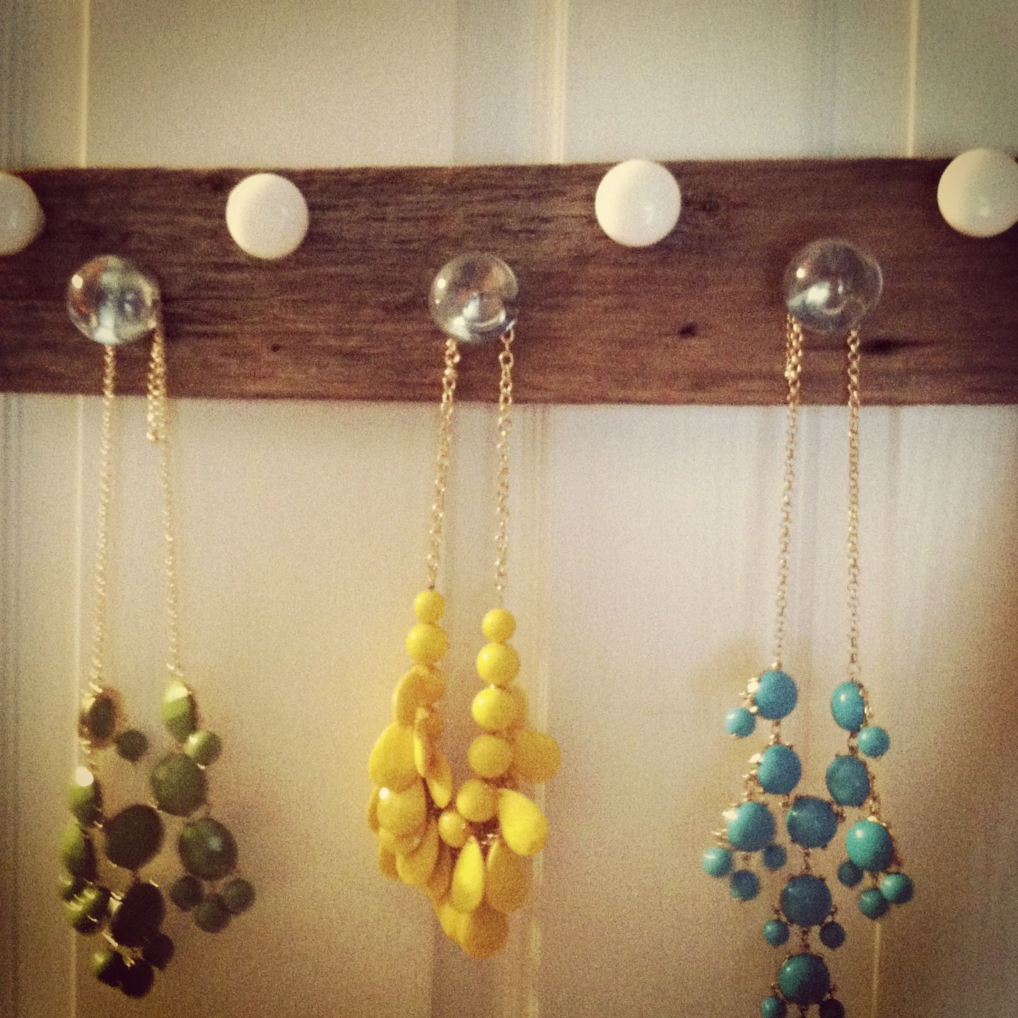 DIY Necklace Holder! Antique Knobs!