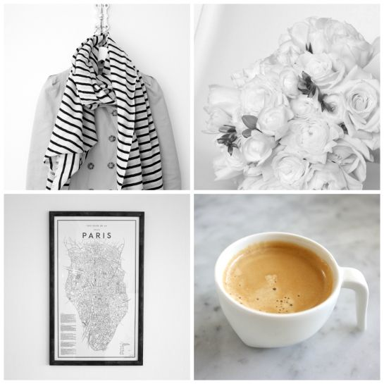 homevialaura | Paris on my mind | parisian style | trench coat | By Malene Birger striped scarf | David Ehrenstråhle Guide to Paris | flowers | coffee