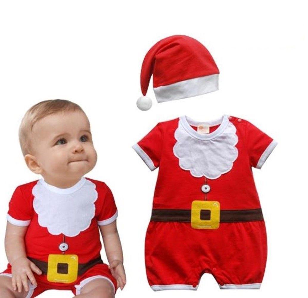 dd09fcb3007a3 $16.99 AUD - Baby Boy Girl First Christmas Summer Party Santa ...