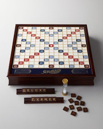 Scrabble Deluxe Game Set All Fun And Games Wooden Board Games