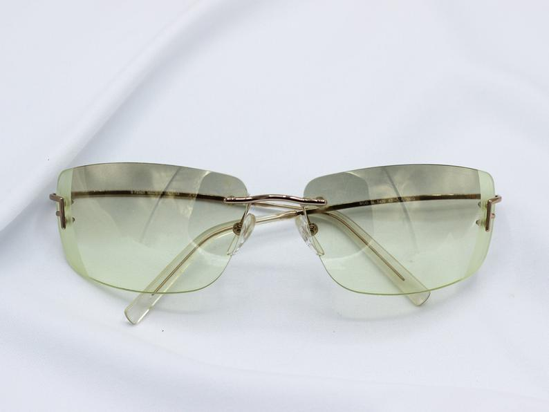 VG Oval Shaped Metal Strip Womens Sunglasses