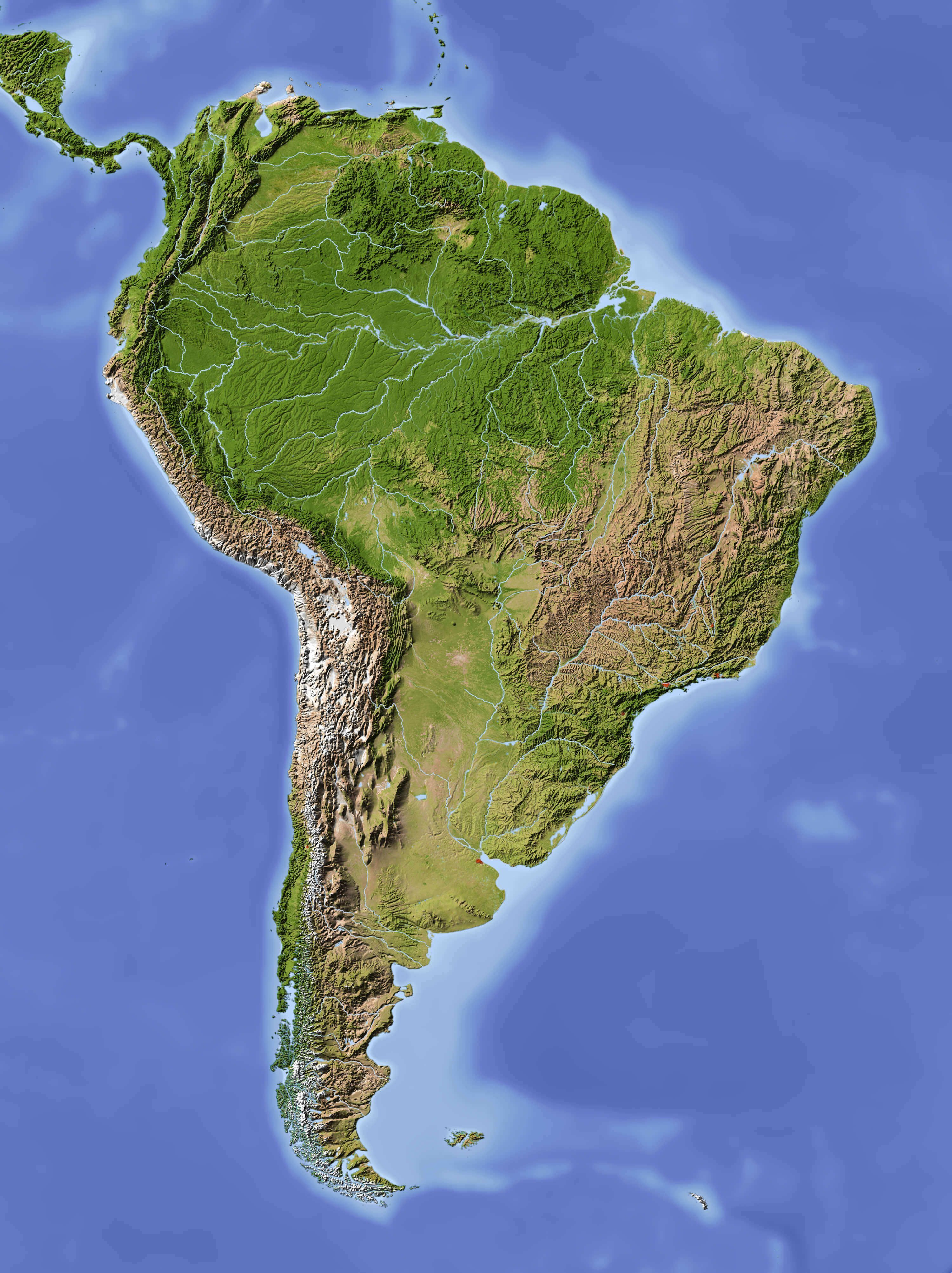 Yutacan Peninsula Map Of Latin America Physical Features on