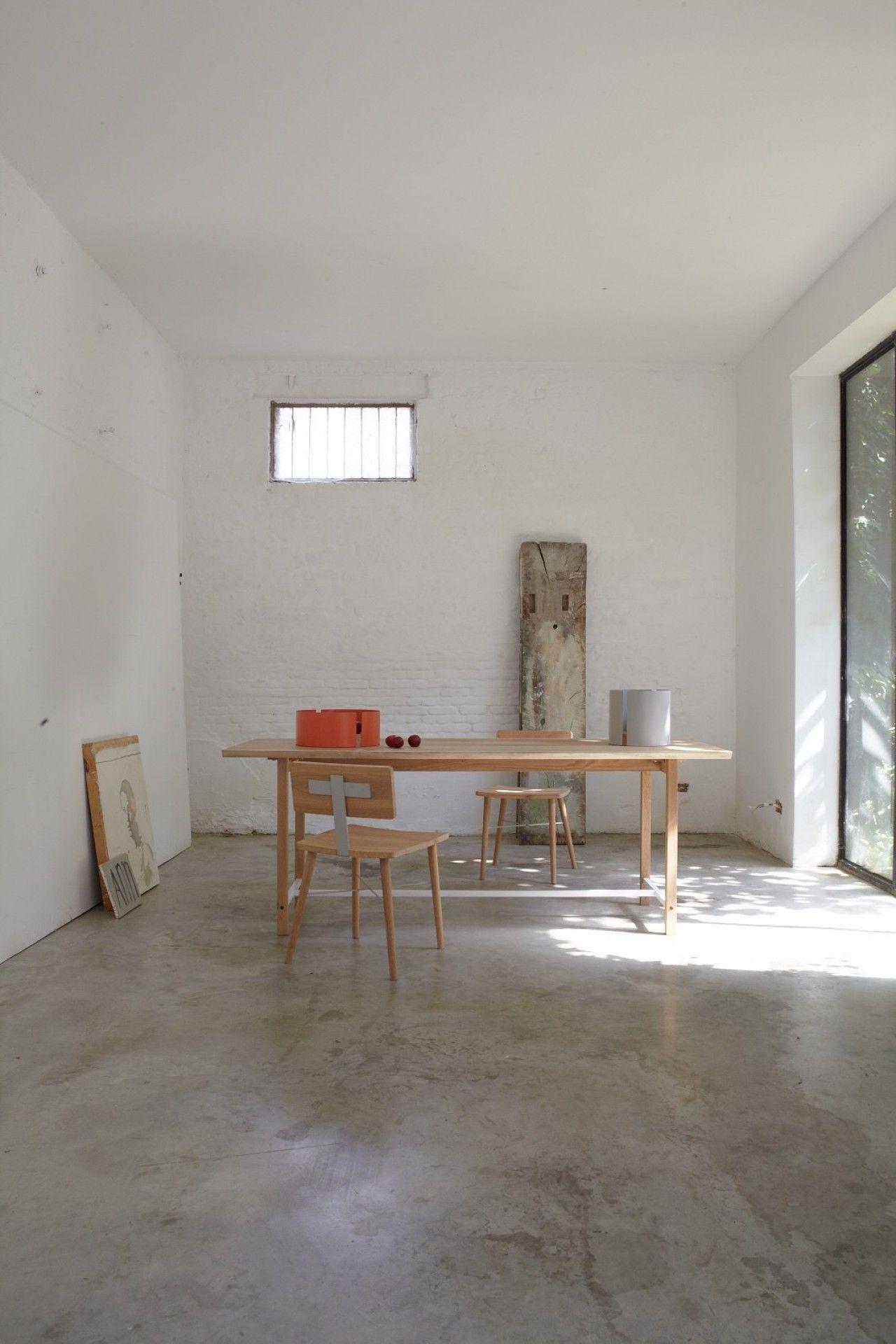 Table squeeze universopositivo White wood blanc bois design