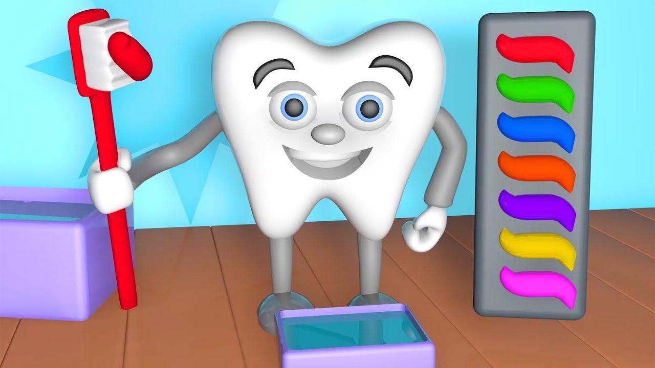 Learn Colors Teeth Brush 3D | Teach Colours Baby Children Kids Video ...
