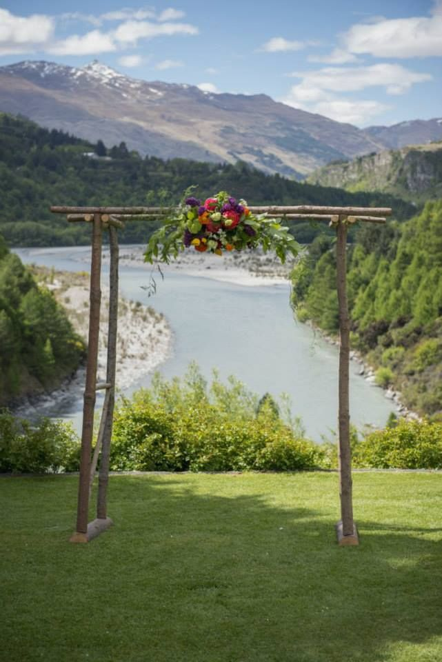 Queenstown wedding hire rustic wooden ceremony arch wedding queenstown wedding hire rustic wooden ceremony arch junglespirit Image collections