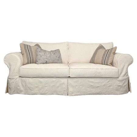 Excellent Slipcover Style Cotton Sofa With Foam And Hypoallergenic Caraccident5 Cool Chair Designs And Ideas Caraccident5Info