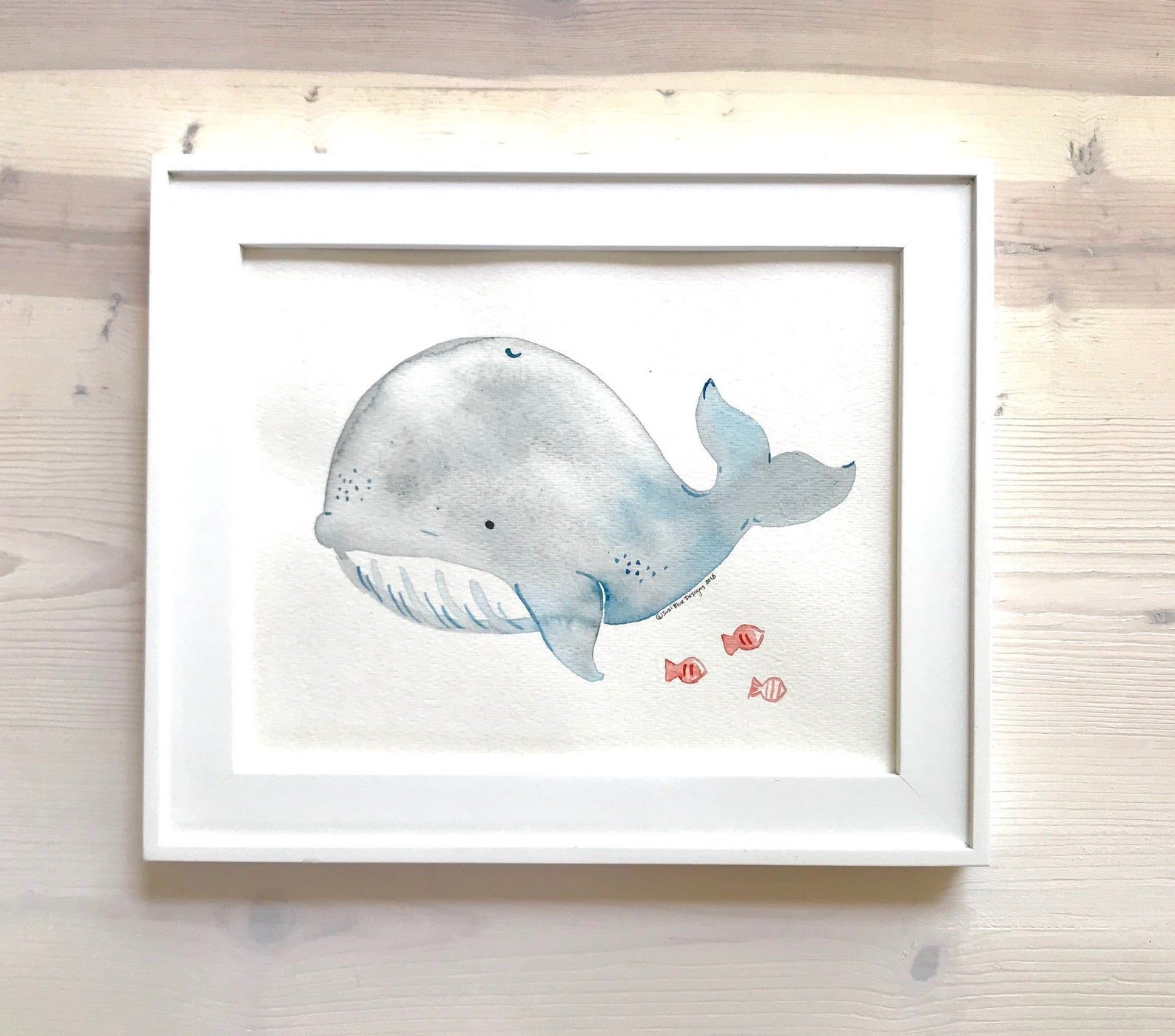 Under the Sea//Ocean Animals.Kids//Baby//Nursery Art Prints.Wall Decor.Whale.Fish