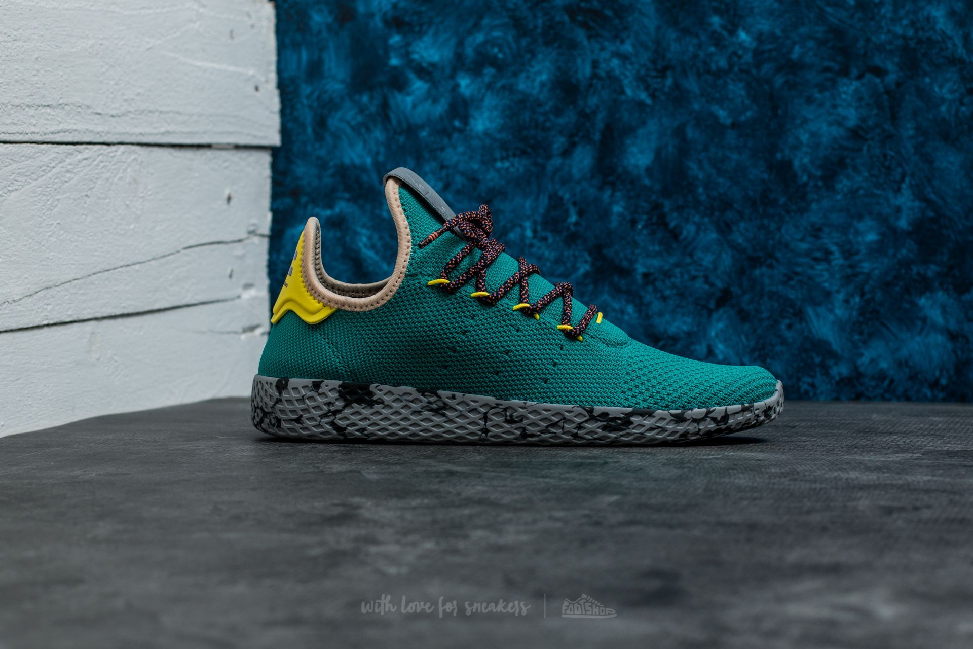 dc4fff0e8af adidas Pharrell Williams Tennis HU Teal  Teal at a great price 108 € buy at  Footshop